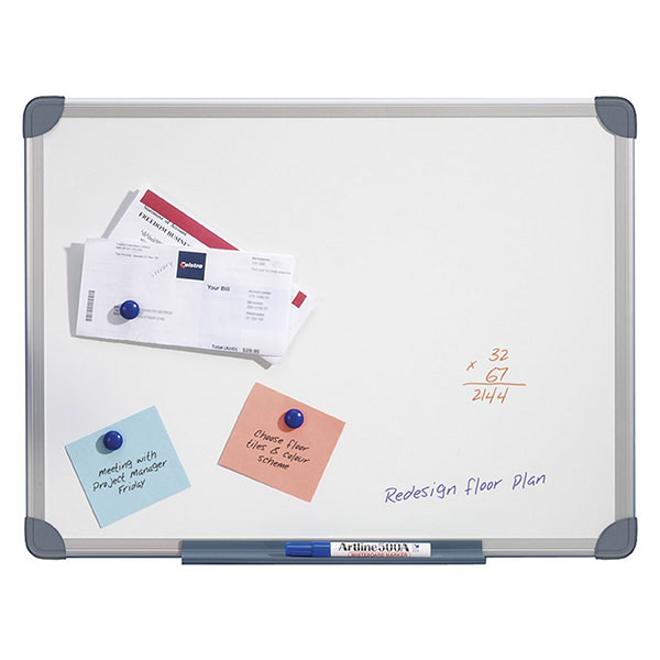 QUARTET WHITEBOARD S/LINE MAGNETIC 900X1200MM
